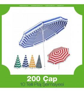 200 Çap 10 Telli Plaj Şemsiyesi