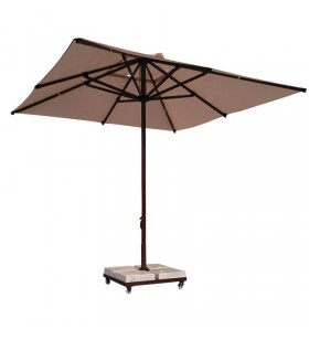 250x250 Kahverengi Alüminyum Havuz Şemsiyesi
