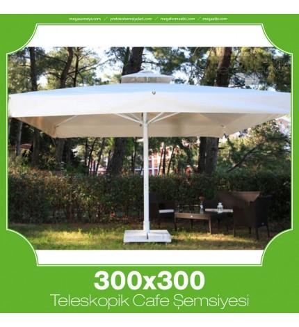 300x300 cm Teleskopik Dişli Sistem Cafe Şemsiyesi