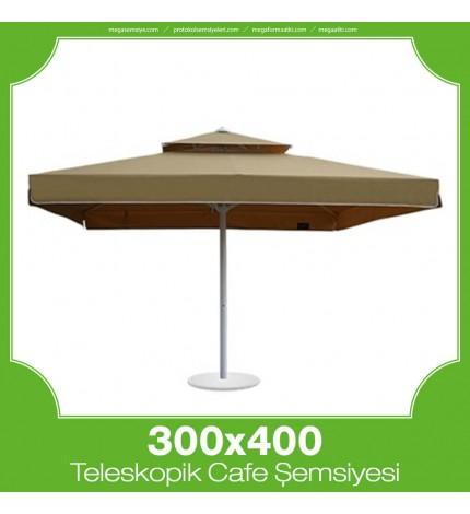 300x400 cm Teleskopik Dişli Sistem Cafe Şemsiyesi
