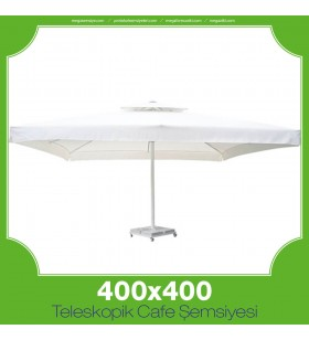 400x400 cm Teleskopik Cafe Şemsiyesi