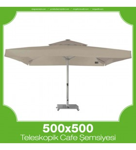 500x500 cm Teleskopik Dişli Sistem Cafe Şemsiyesi