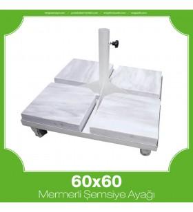 60x60 Mermerli Çerçeveli Şemsiye Ayağı