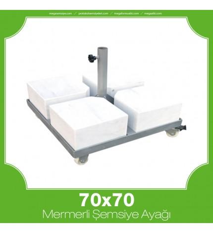 70x70 Mermerli Çerçeveli Şemsiye Ayağı