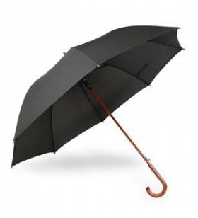 Ahşap Baston Saplı 8 Telli Siyah Promosyon Şemsiye