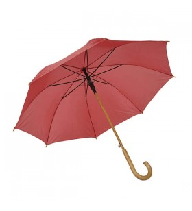 Ahşap Baston Saplı Bordo Promosyon Şemsiye