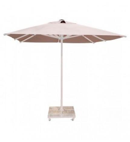 250x250 Beyaz Alüminyum İpli Makaralı Şemsiye
