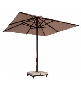 250x250 Kahverengi Alüminyum İpli Makaralı Şemsiye