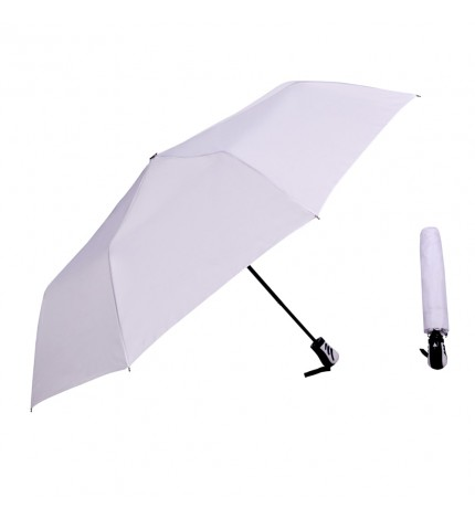 Beyaz Renk Otomatik Katlanır Yağmur Şemsiyesi