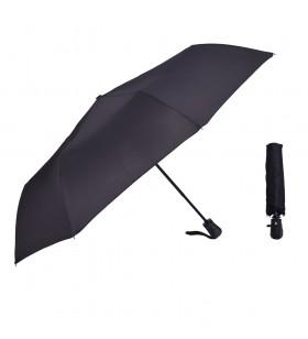 Siyah Renk Otomatik Katlanır Yağmur Şemsiyesi