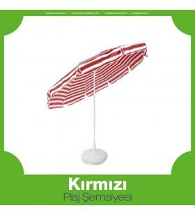 Kırmızı Plaj Şemsiyesi