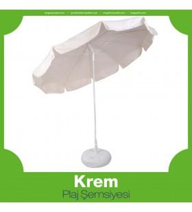 Krem Plaj Şemsiyesi
