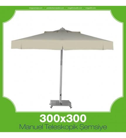 300x300 cm Manuel Teleskopik Şemsiye