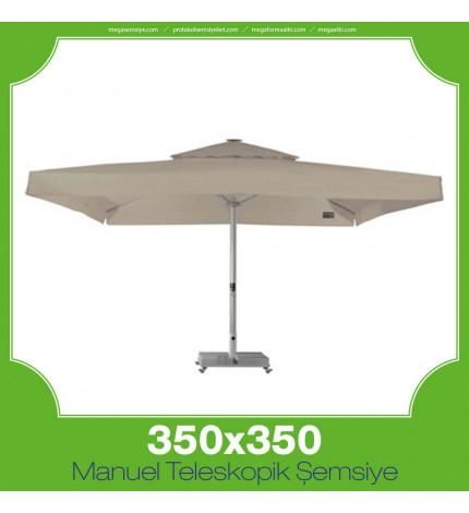 350x350 cm Manuel Teleskopik Şemsiye