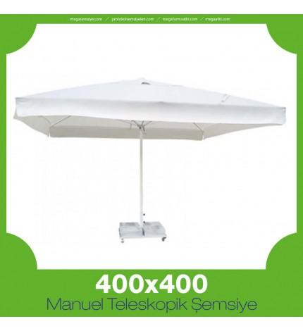 400x400 cm Manuel Teleskopik Şemsiye