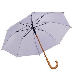 Ahşap Baston Saplı Gri Promosyon Yağmur Şemsiyesi