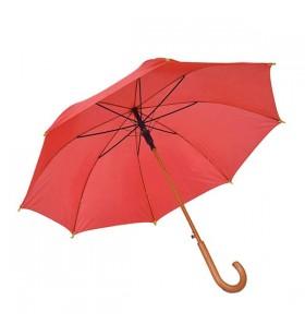 Ahşap Baston Saplı Kırmızı Promosyon Şemsiye