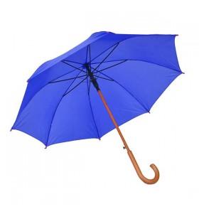 Ahşap Baston Saplı Mavi Promosyon Şemsiye