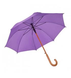 Ahşap Baston Saplı Mor Promosyon Şemsiye