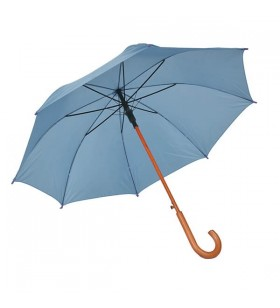 Ahşap Baston Saplı Turkuaz Promosyon Şemsiye
