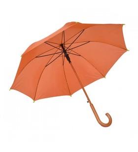 Ahşap Baston Saplı Turuncu Promosyon Şemsiye