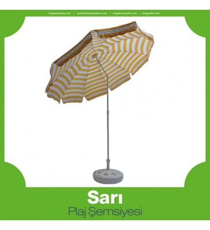 Sarı Plaj Şemsiyesi