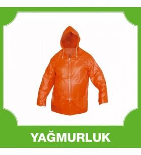 Kısa Ceket Yağmurluk Turuncu 0,14 MM