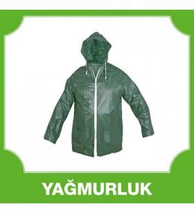 Kısa Ceket Yağmurluk Yeşil 0,14 MM