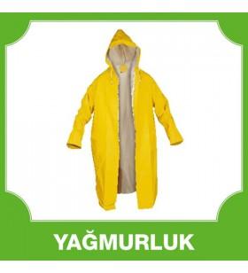 Uzun Astarlı Yağmurluk Sarı 0,32 MM
