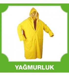 Uzun Astarsız Yağmurluk Sarı 0,25 MM