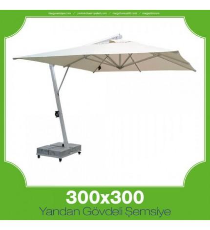 300x300 cm Yandan Gövdeli Kare Şemsiye