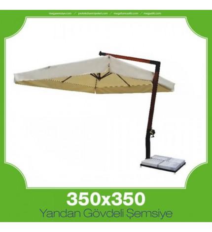 350x350 cm Yandan Gövdeli Kare Şemsiye