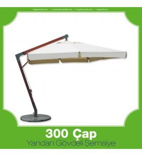 300 cm Çap Yandan Gövdeli Yuvarlak Şemsiye