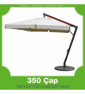 350 cm Çap Yandan Gövdeli Yuvarlak Şemsiye